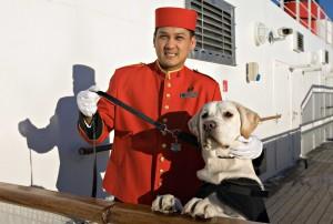 Der Dog Master mit einem Hund